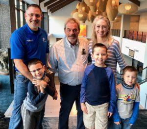 Baker Family with Todd Nelson, owner of Kalahari Resorts