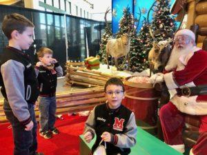 kids talking to Santa