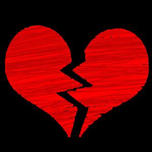 broken heart symbolizing divorce