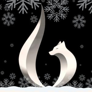 white Baker Realty logo in snow